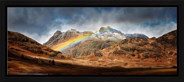 Langdale Pikes Rainbow - Modern Print