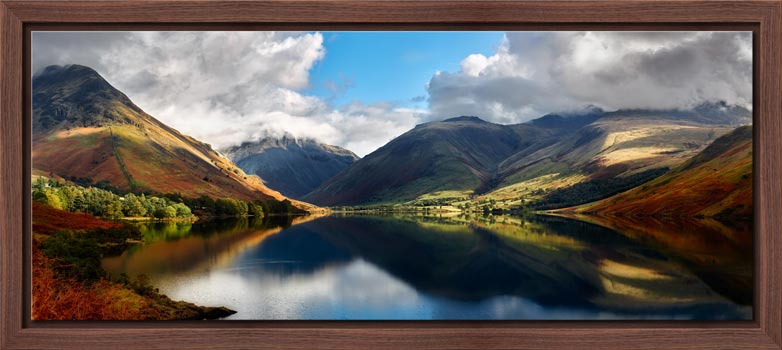 Wasdale Head Panorama - Walnut floater frame with acrylic glazing