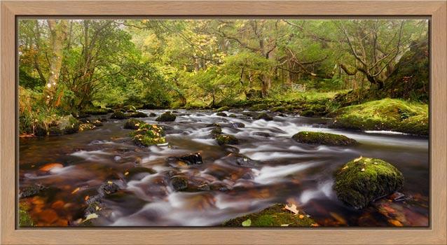 Start of Autumn River Rothay - Modern Print