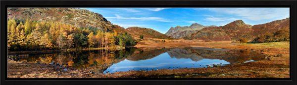 Blea Tarn Autumn Panorama - Modern Print