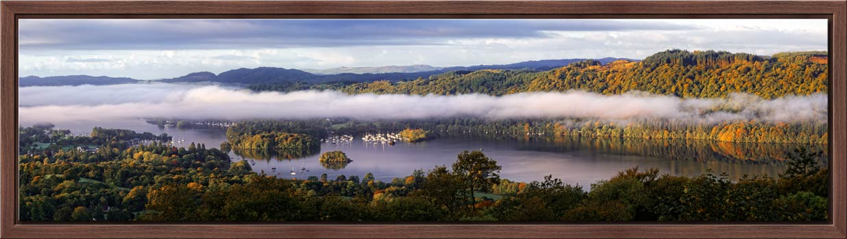 Bowness On Windermere Morning Mists - Modern Print