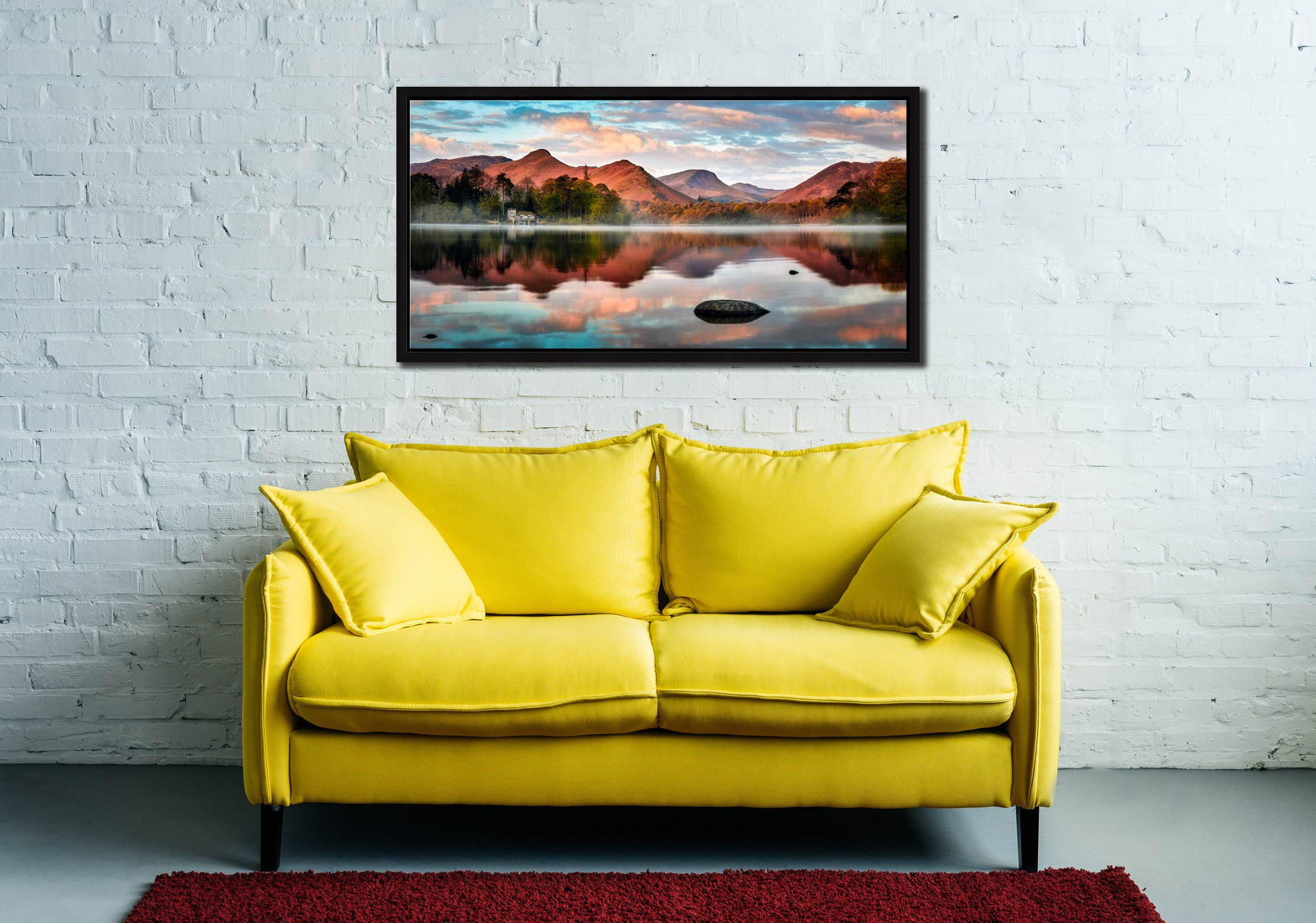 Cat Bells Red Dawn - Black oak floater frame with acrylic glazing on Wall