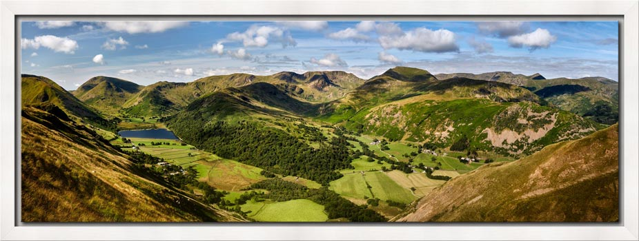 Deepdale and Dovedale Panorama - Modern Print