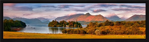 Derwent Water and Catbells in Morning Light - Modern Print