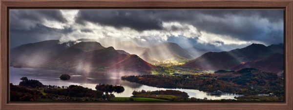 Sunbeams Over the Derwent Fells - Modern Print