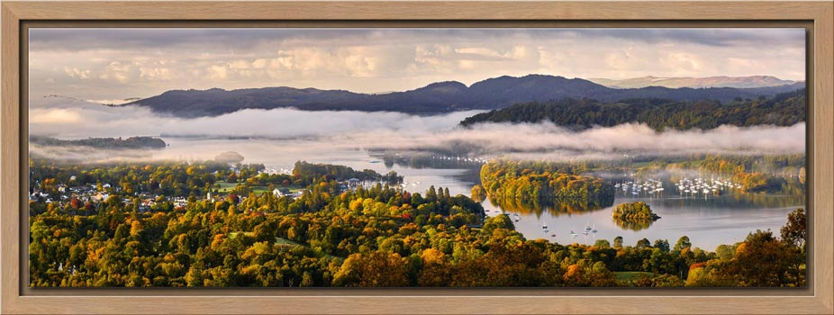 Windermere Morning Mists - Modern Print