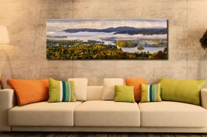 Windermere Morning Mists - Print Aluminium Backing With Acrylic Glazing on Wall