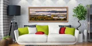 Windermere Morning Mists - Oak floater frame with acrylic glazing on Wall
