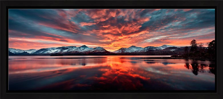 Red Skies Over Derwent Water - Modern Print