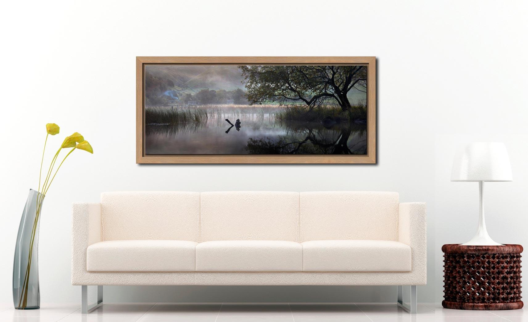 Hartsop Misty Morning - Oak floater frame with acrylic glazing on Wall