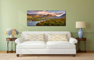 Grasmere Autumn Morning - Print Aluminium Backing With Acrylic Glazing on Wall