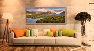 Grasmere Autumn Morning - Oak floater frame with acrylic glazing on Wall