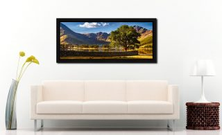 The Buttermere Oak Tree - Black oak floater frame with acrylic glazing on Wall