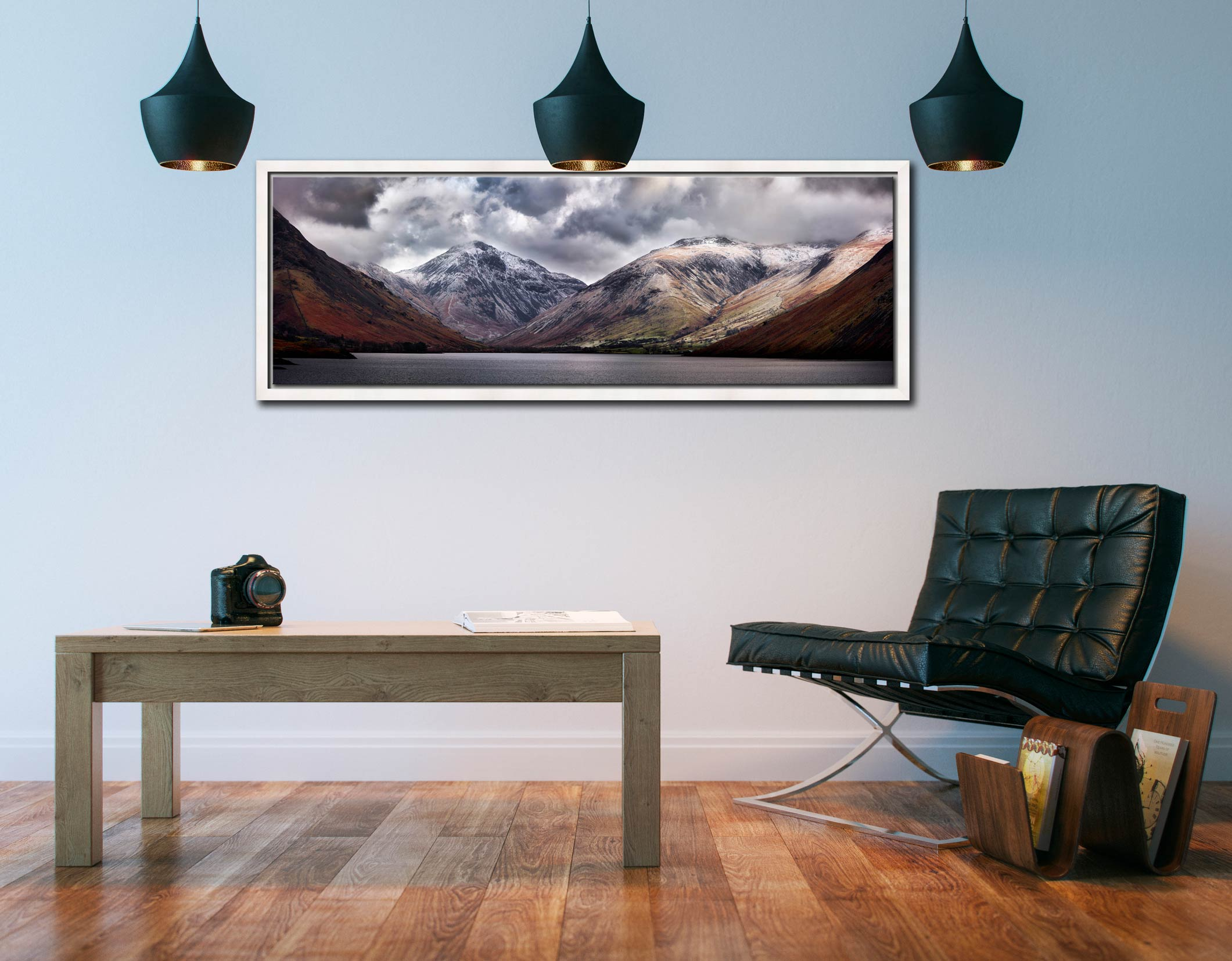 Great Gable and Lingmell - White Maple floater frame with acrylic glazing on Wall