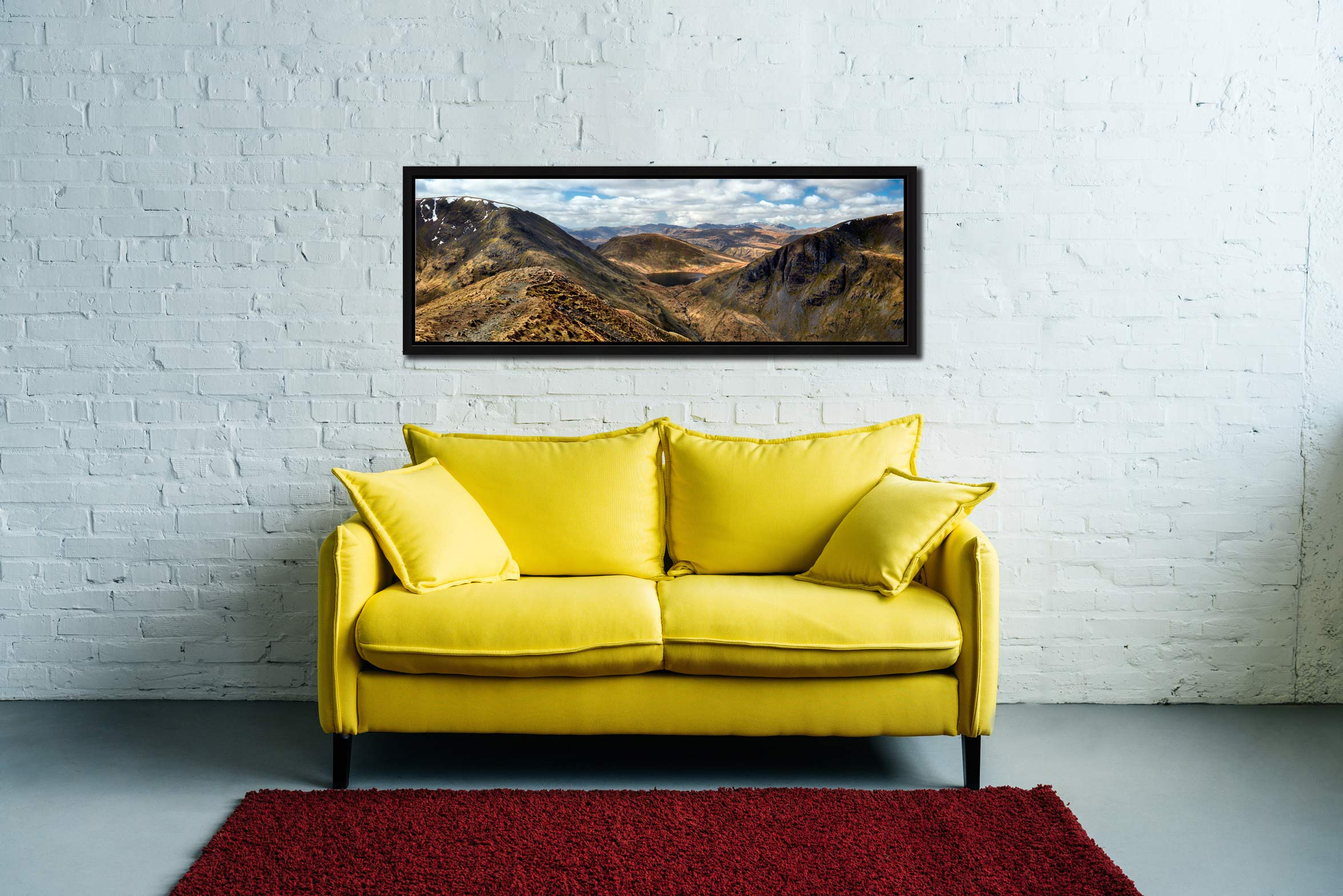 Grisedale Tarn From Deepdale Hause - Black oak floater frame with acrylic glazing on Wall