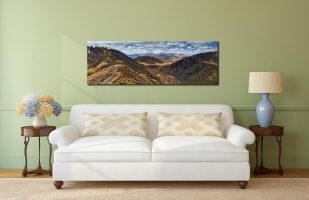 Grisedale Tarn From Deepdale Hause - Print Aluminium Backing With Acrylic Glazing on Wall