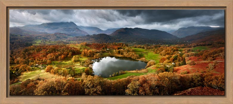 Loughrigg Tarn in Autumn Sunshine - Modern Print