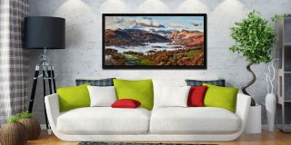 Autumn Morning in Langdale - Black oak floater frame with acrylic glazing on Wall