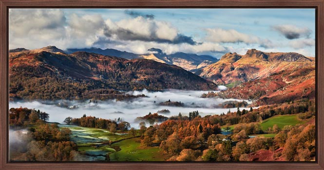 Autumn Morning in Langdale - Modern Print