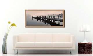 Coniston Jetty - Oak floater frame with acrylic glazing on Wall