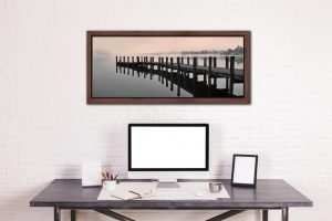 Coniston Jetty - Walnut floater frame with acrylic glazing on Wall