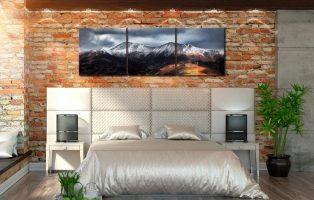 Snow Capped Skiddaw - Print Aluminium Backing With Acrylic Glazing on Wall