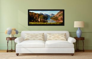 Wast Water Boathouse - Black oak floater frame with acrylic glazing on Wall