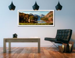 Wast Water Boathouse - White Maple floater frame with acrylic glazing on Wall