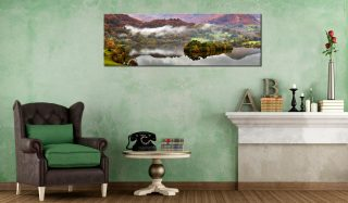 Grasmere Autumn Mists - Print Aluminium Backing With Acrylic Glazing on Wall