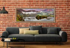 Grasmere Autumn Mists - Oak floater frame with acrylic glazing on Wall