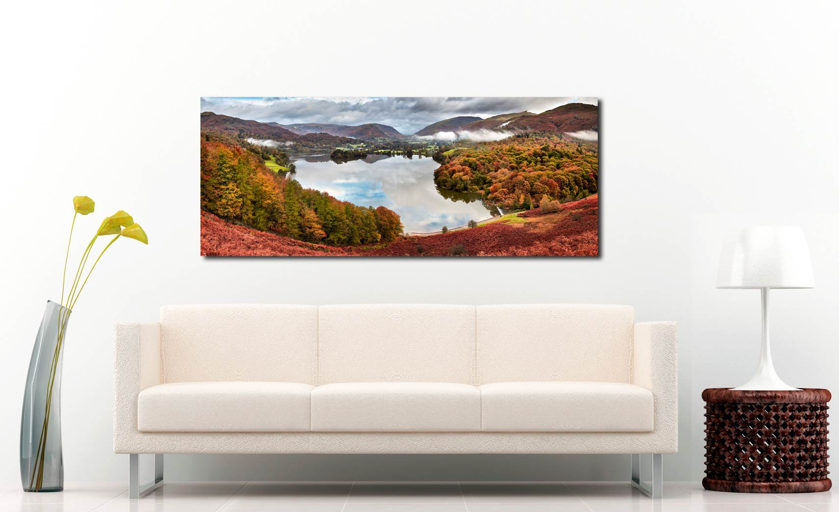 Trees of Grasmere - Print Aluminium Backing With Acrylic Glazing on Wall