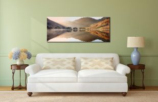 Bright Light on Buttermere - Print Aluminium Backing With Acrylic Glazing on Wall
