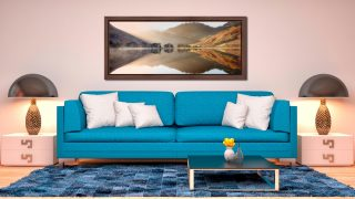 Bright Light on Buttermere - Walnut floater frame with acrylic glazing on Wall