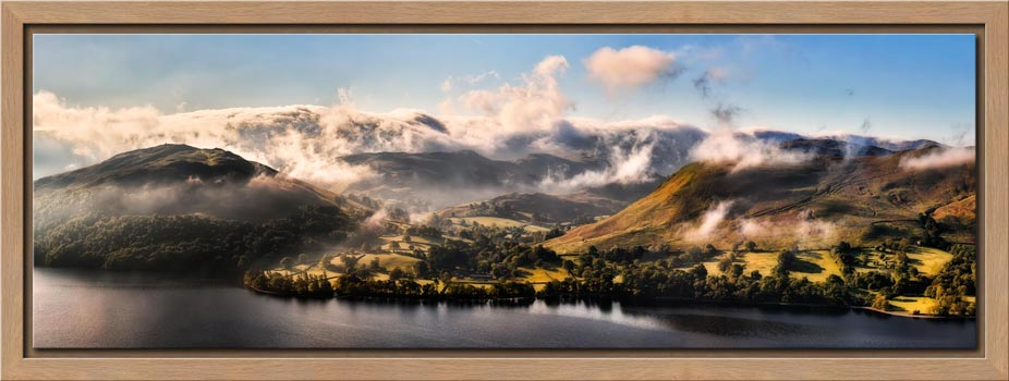 Ullswater Clouds Panorama - Modern Print