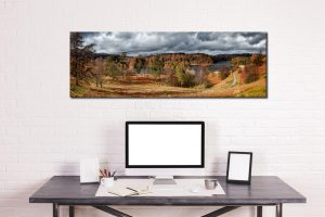 Tarn Hows Winter Colours - Print Aluminium Backing With Acrylic Glazing on Wall