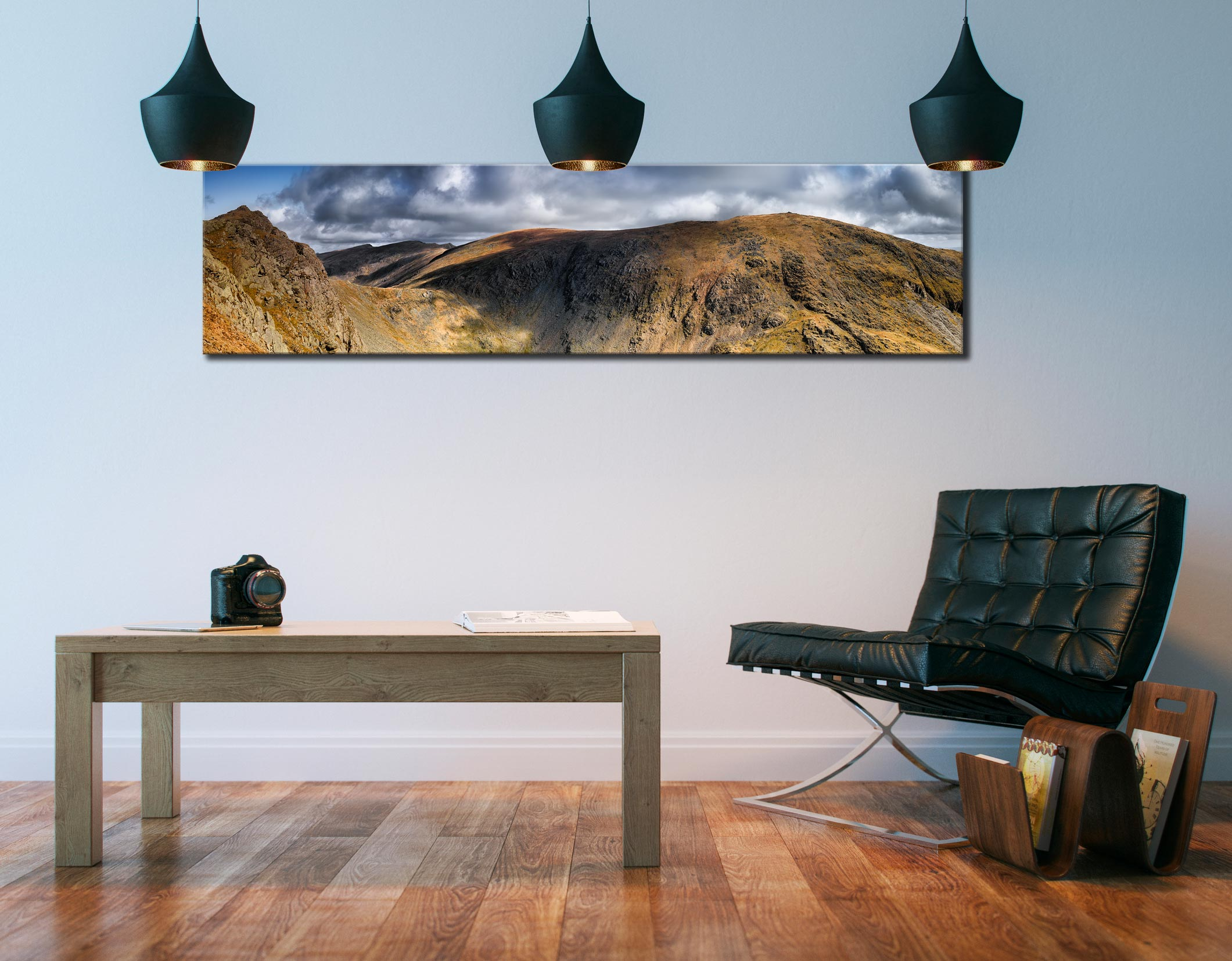 Dow Crag and Old Man Coniston - Lake District Canvas on Wall