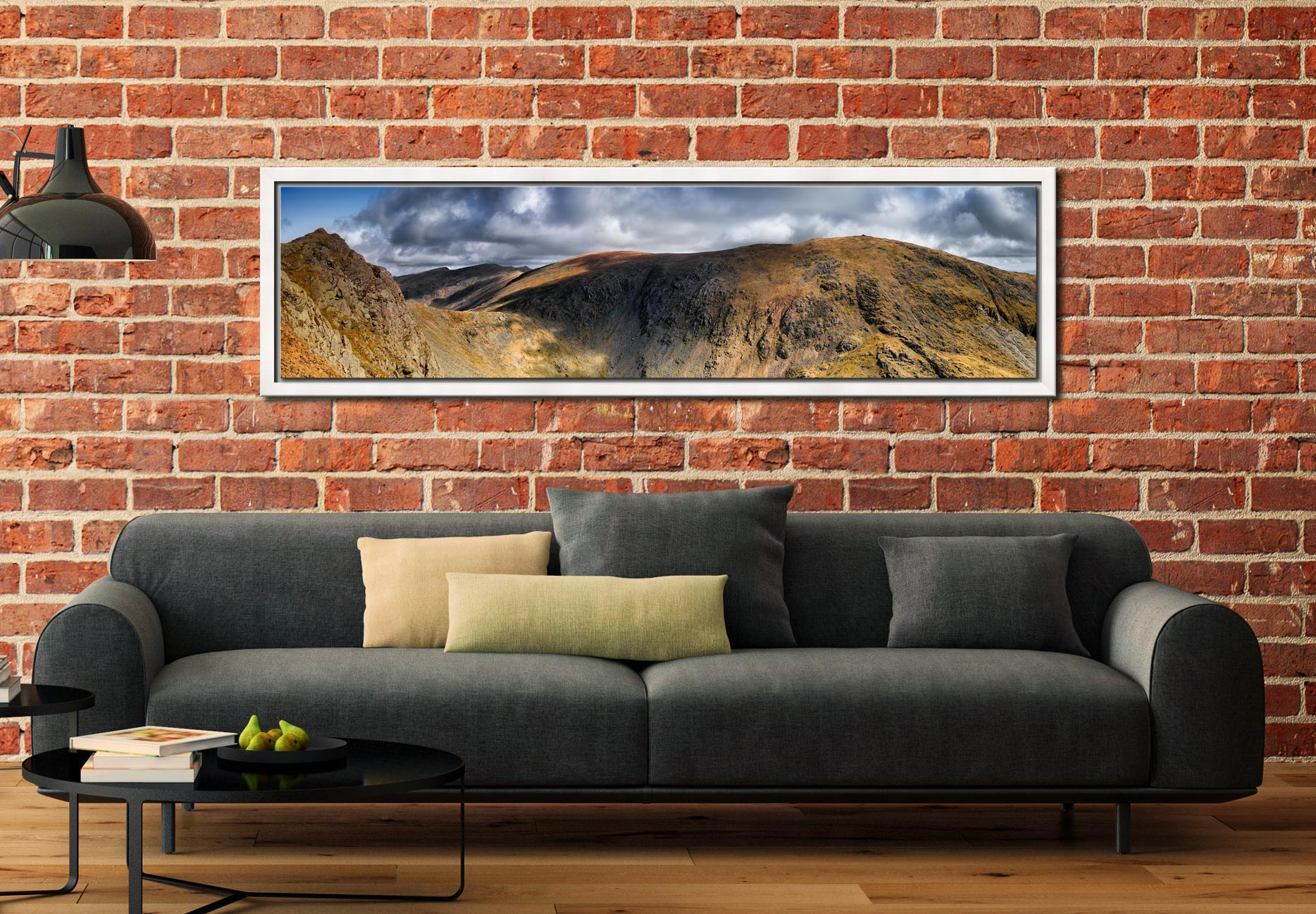 Dow Crag and Old Man Coniston - White Maple floater frame with acrylic glazing on Wall
