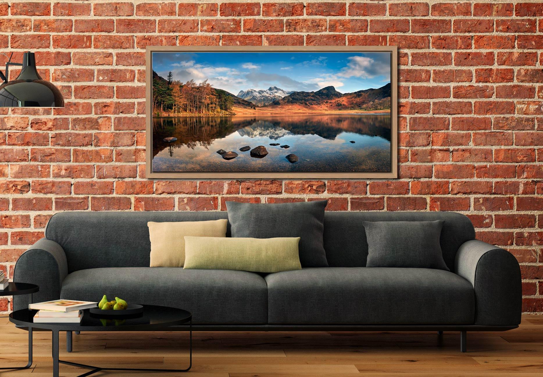 Spring Sunshine on Blea Tarn - Oak floater frame with acrylic glazing on Wall