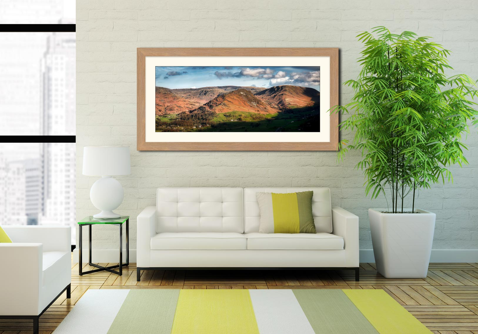 Helm Crag - Framed Print with Mount on Wall
