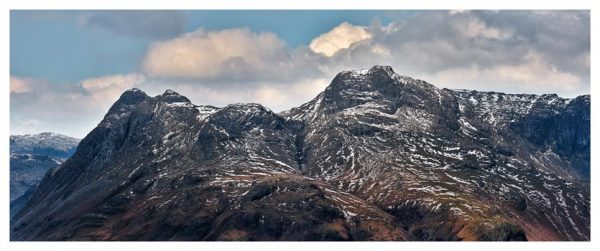 Late Snow on Langdale Pikes - Lake District Print