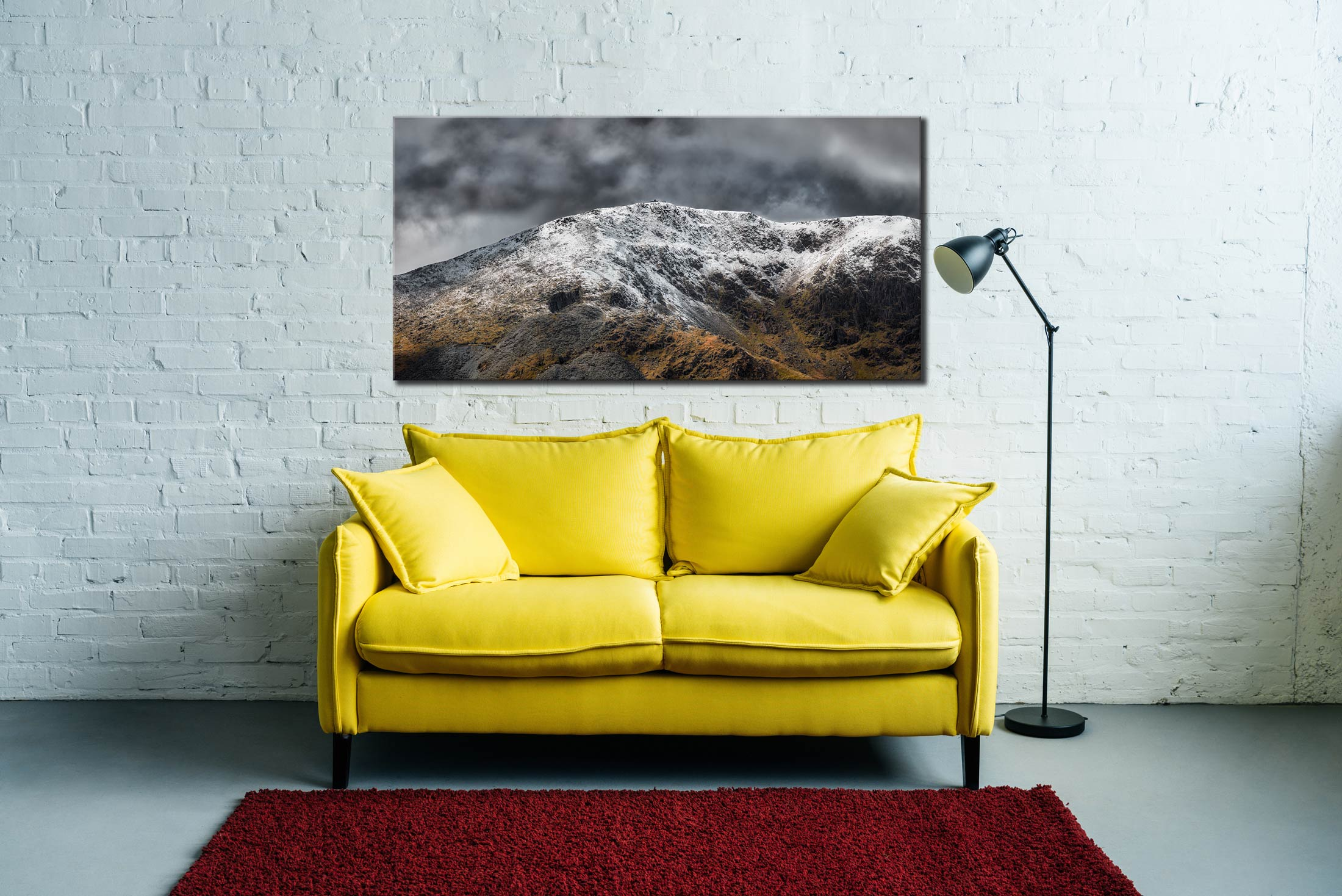 Coniston Old Man Summit - 3 Panel Canvas on Wall