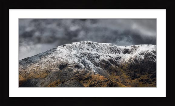 Coniston Old Man Summit - Framed Print with Mount