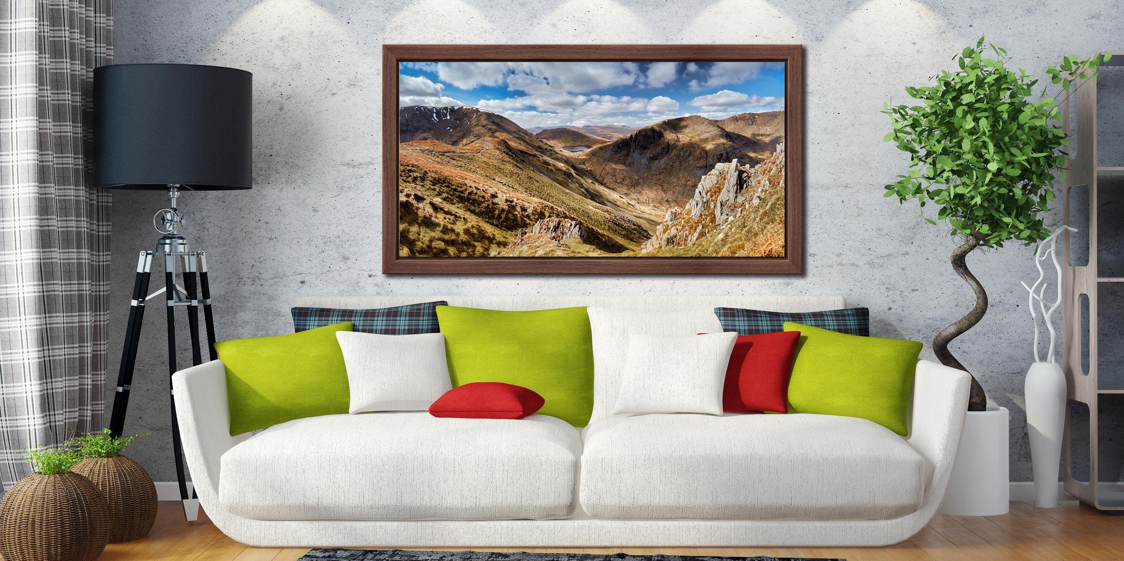 Fairfield to Dollywagon Pike - Walnut floater frame with acrylic glazing on Wall