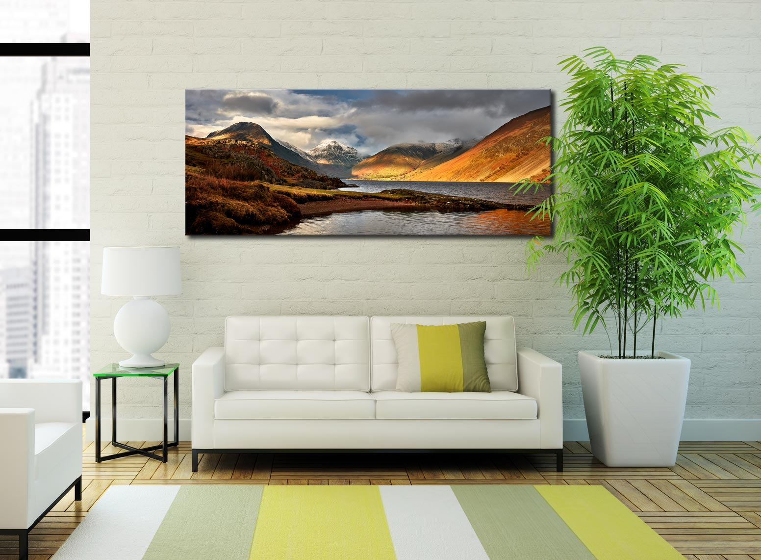 Glorious Wast Water - Print Aluminium Backing With Acrylic Glazing on Wall