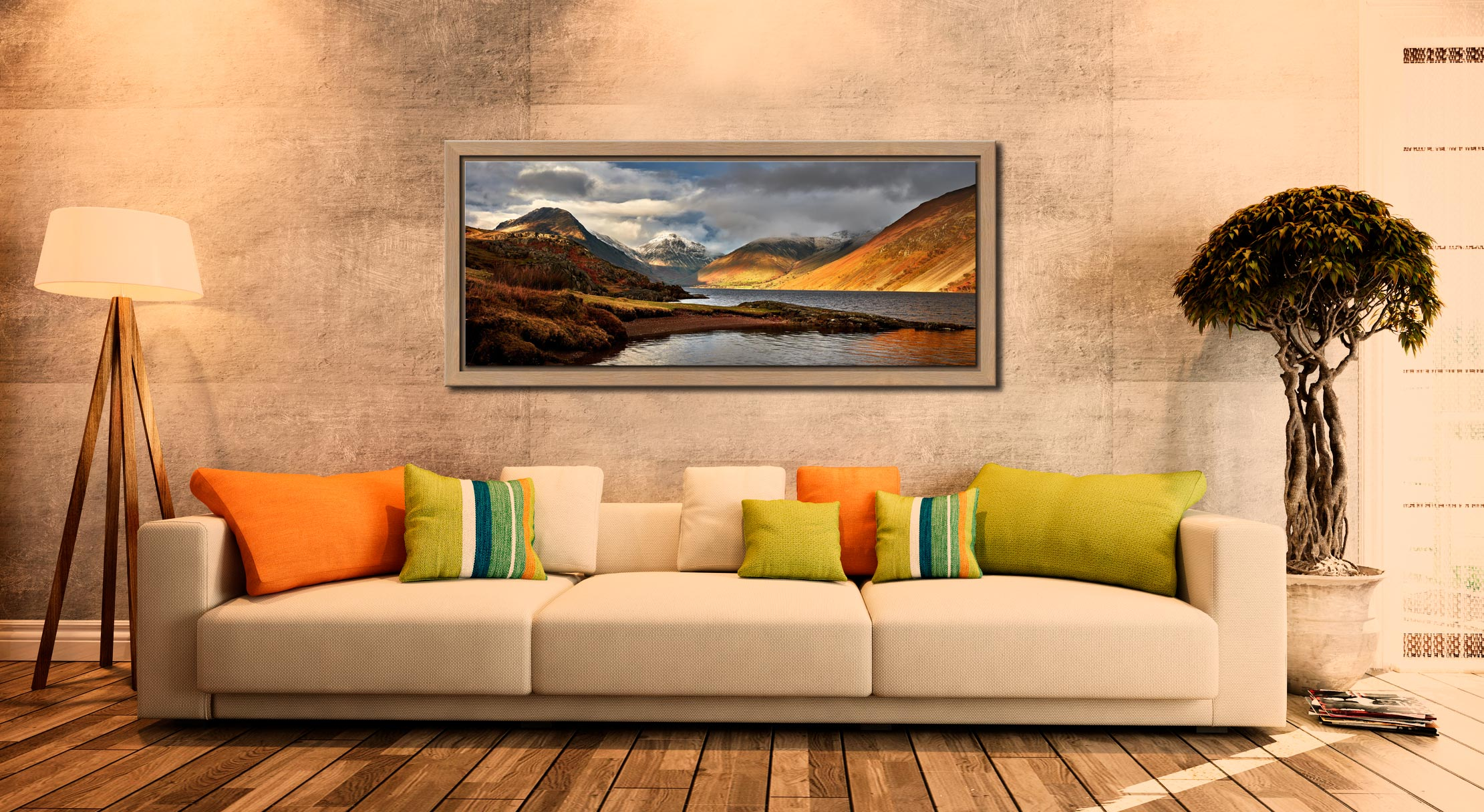 Glorious Wast Water - Oak floater frame with acrylic glazing on Wall