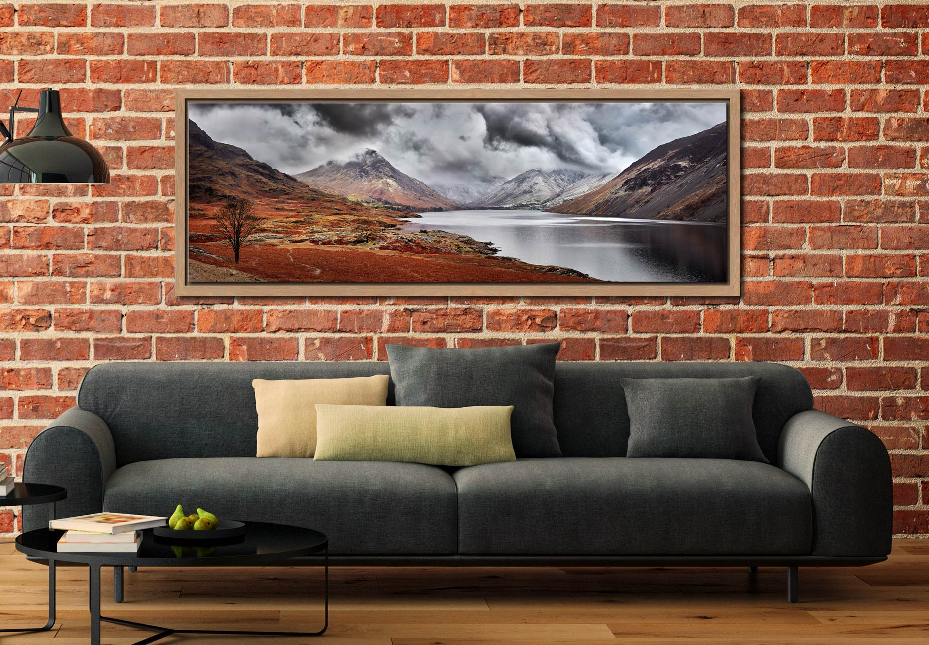 Dark Skies Over Wast Water - Oak floater frame with acrylic glazing on Wall