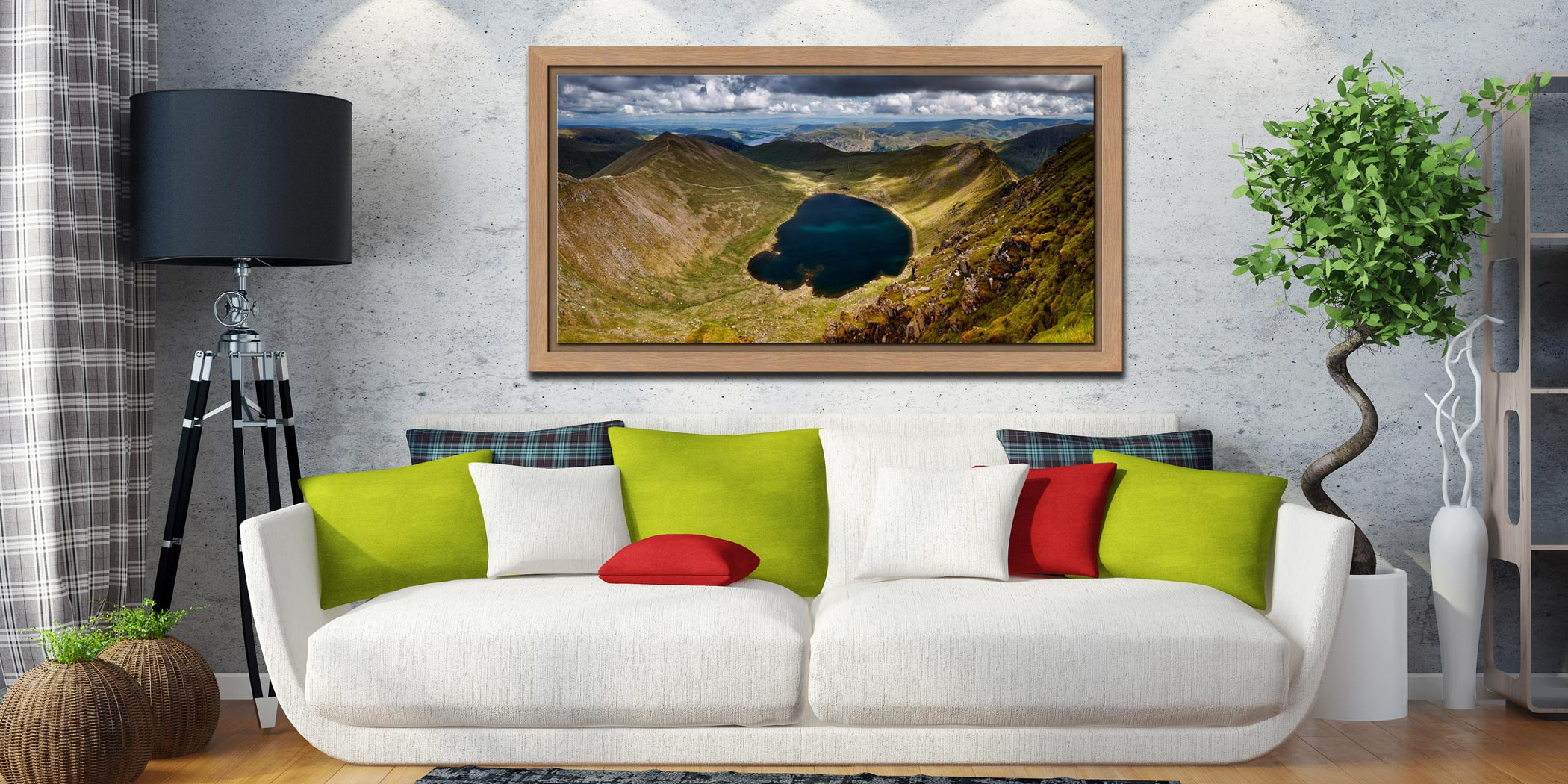 Red Tarn - Oak floater frame with acrylic glazing on Wall