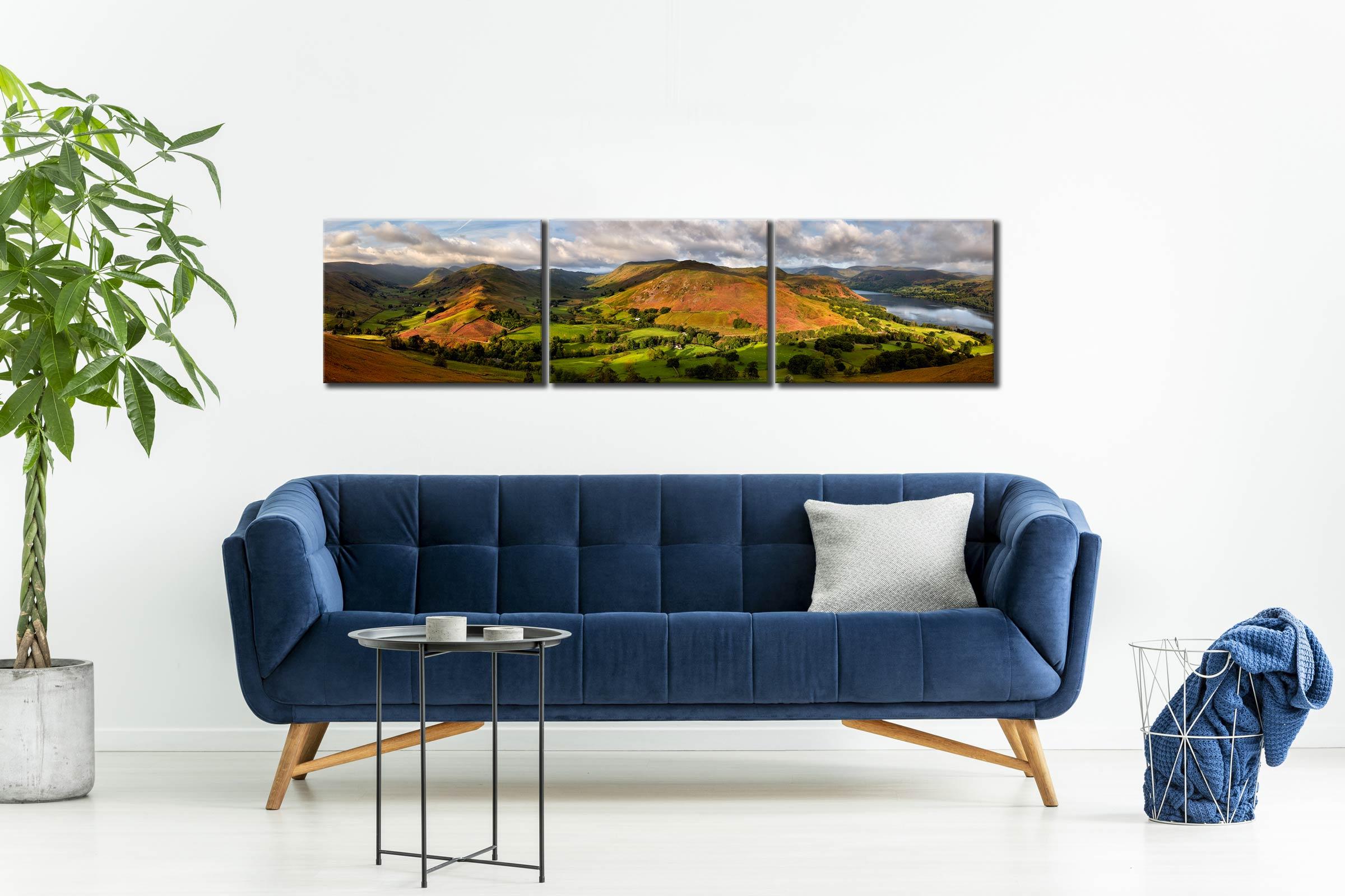 Hallin Fell Panorama - 3 Panel Canvas on Wall