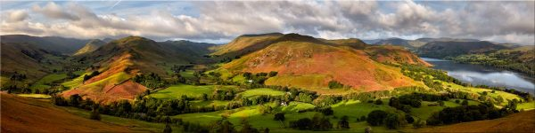 Hallin Fell Panorama - Canvas Print