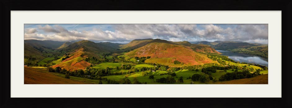 Hallin Fell Panorama - Framed Print with Mount